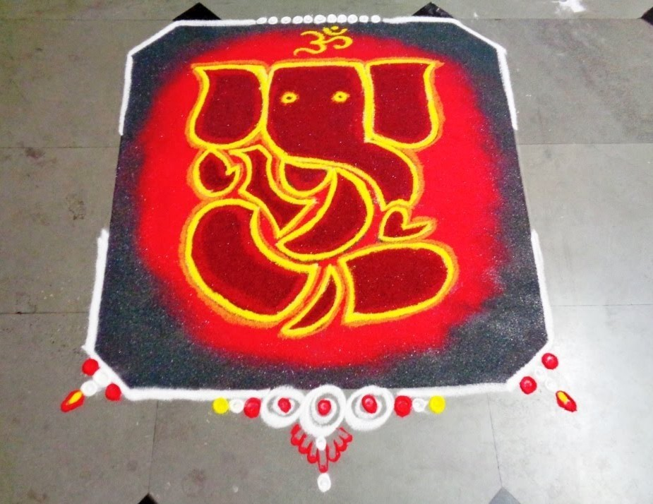 Rangoli Of Ganesh for Diwali