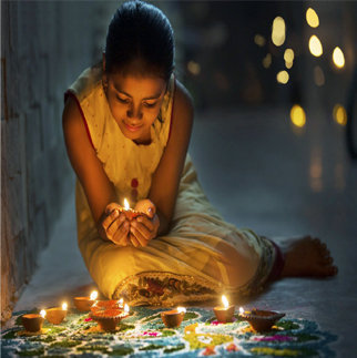 Diwali Whatsapp DP for Alone Girl