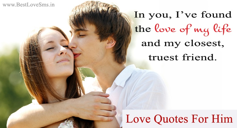 Love Quotes Image for Him