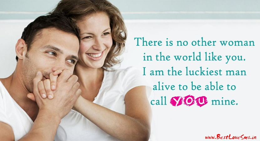 Love Quotation For Her with Smiling Couple