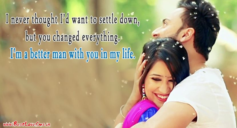 True Love Quotes For Her with Couple Image