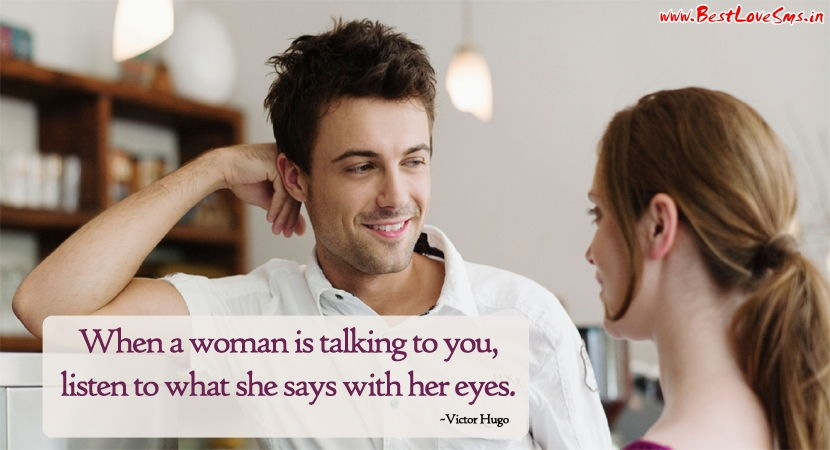Love For Him Quotes with Couple Image