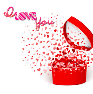 I Love You Heart Valentine Love DP