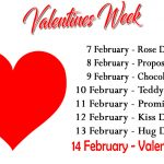 Valentine Week List 2018, Schedule, Dates Sheet Chart
