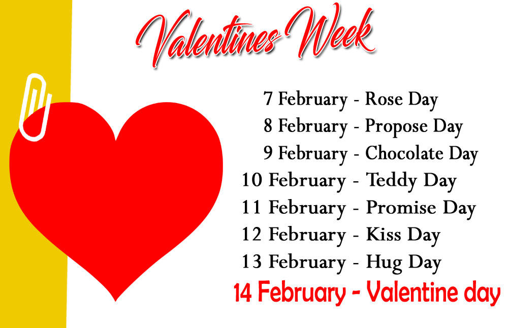 Valentine Week List