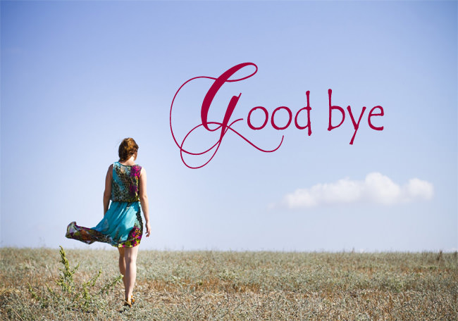 goodbye going away girl image