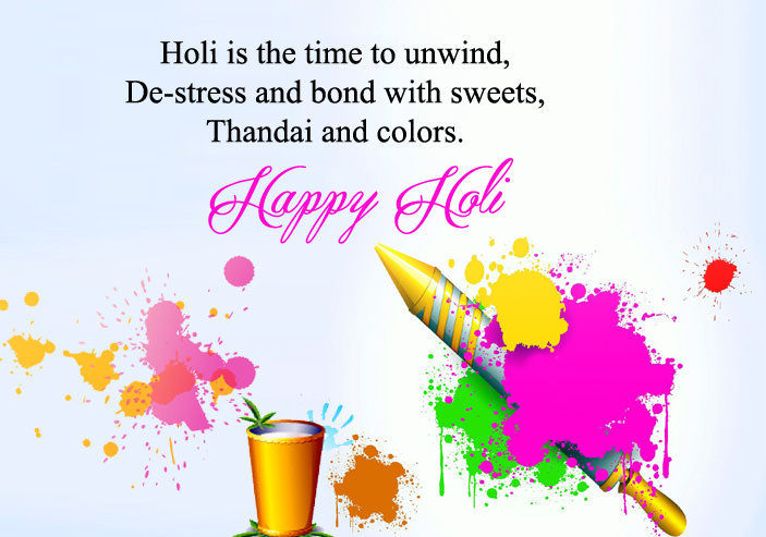 Happy Holi Quotes with colorful images