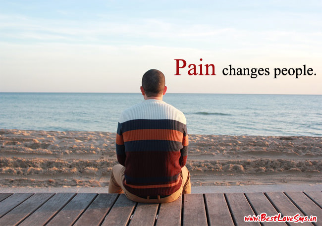Pain changes people alone image