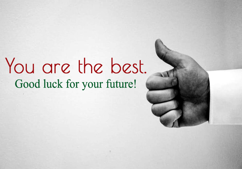 good luck for future status image