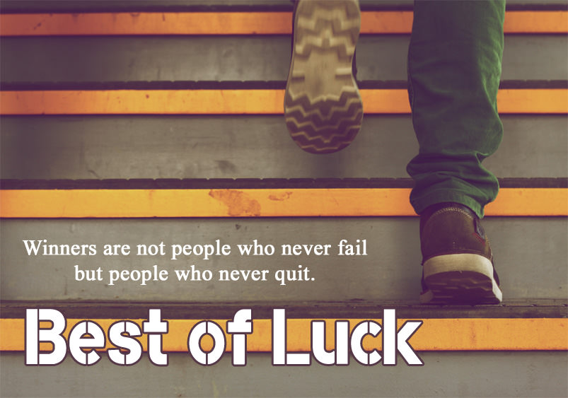 motivational best of luck status