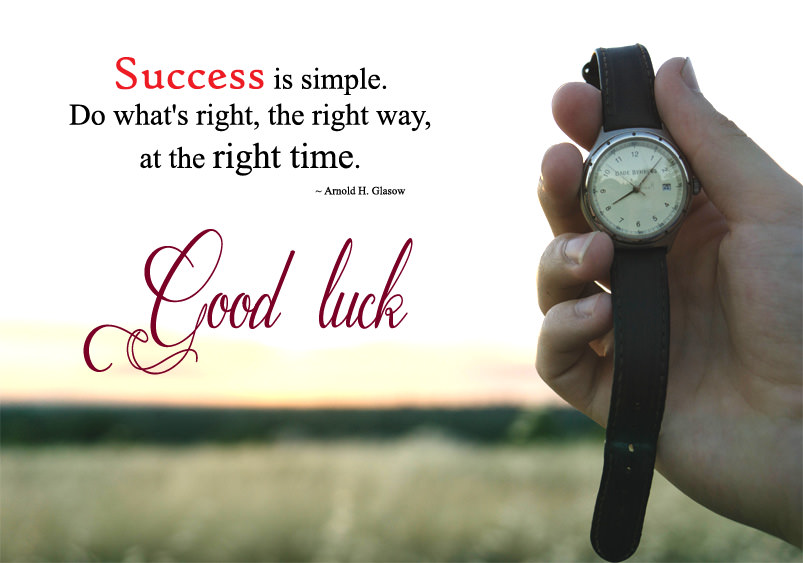 success good luck quotes images