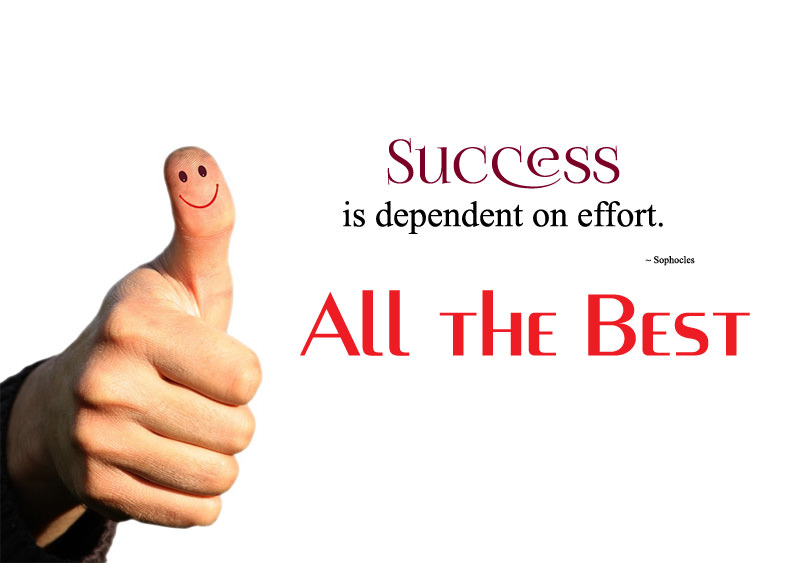 success picture for all the best