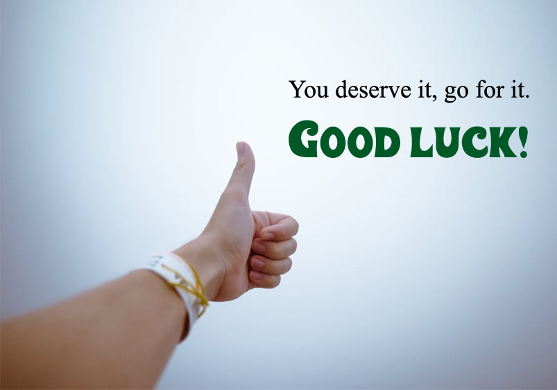 thumb good luck photos quote