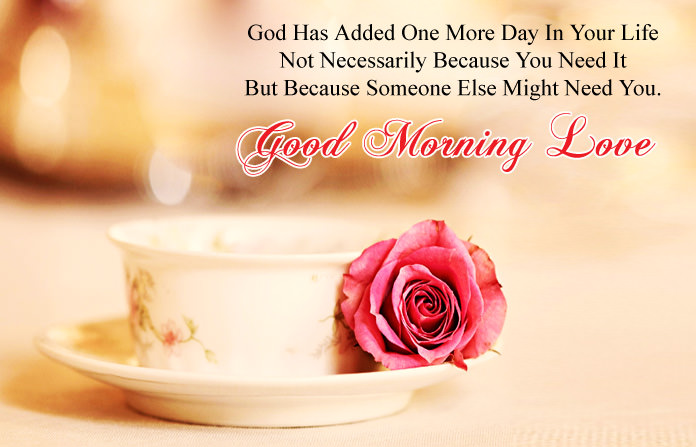 Good Morning Love Wishes with Images