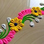 Border Rangoli Designs for Doors and Side Wall