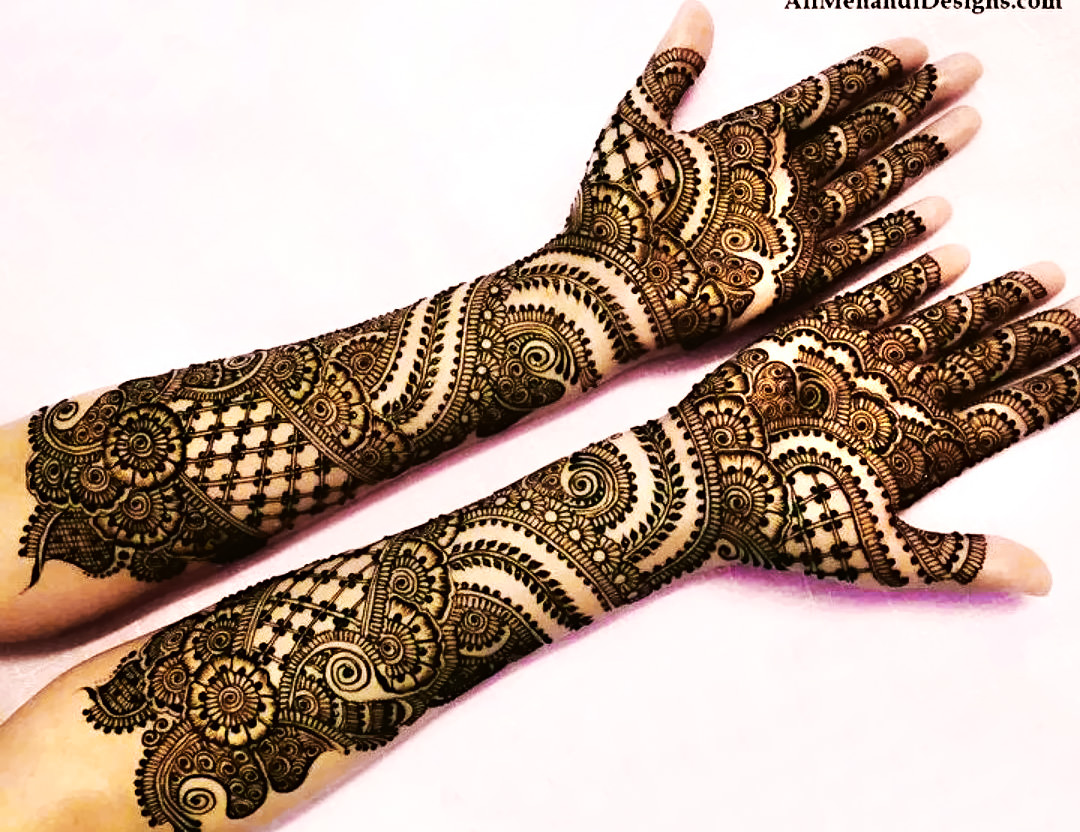 full hand bridal mehndi design images