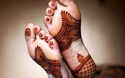 Arabic Leg Mehndi Design for Back Side