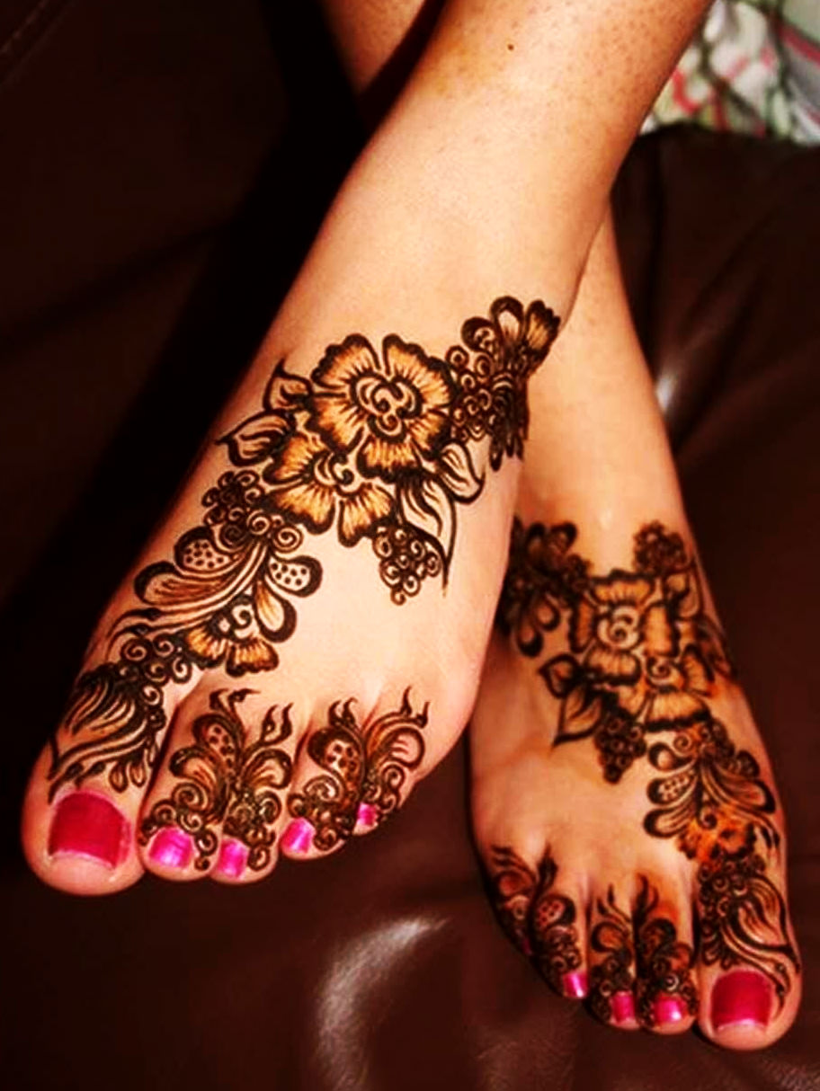 Arabic Mehndi Designs For Feet