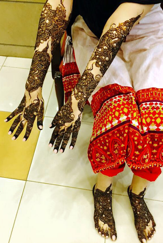 Arabic Mehndi Designs For Hands and Legs