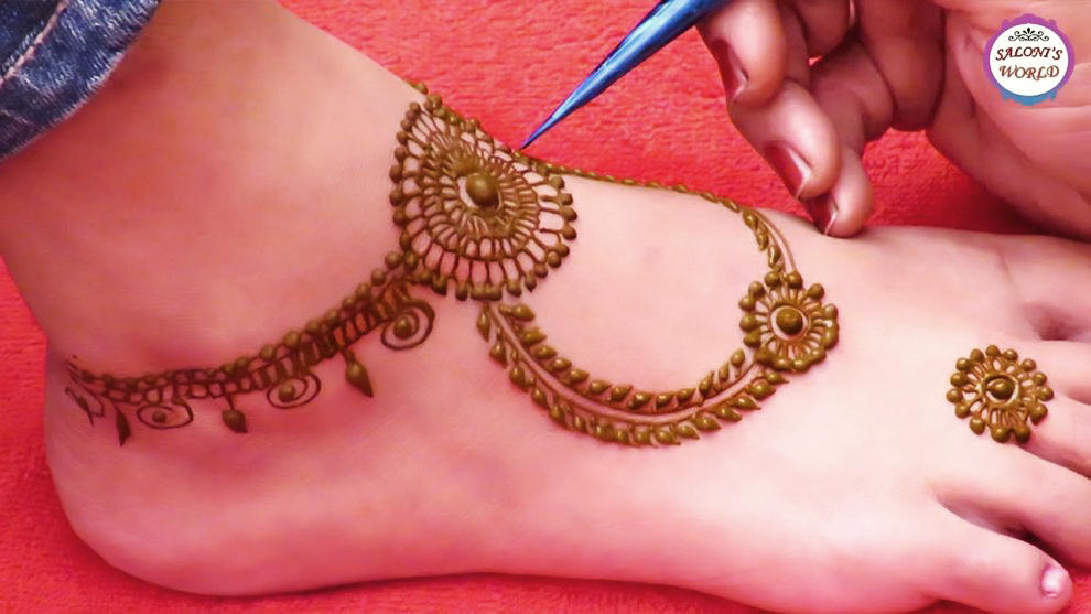 New Arabic Mehndi Designs For Legs for Beginners