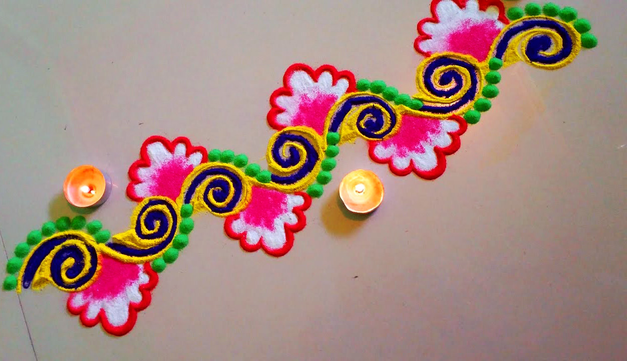 Rangoli Designs for Side Border