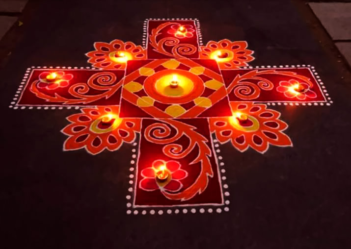 Best Dot Rangoli Designs for Diwali