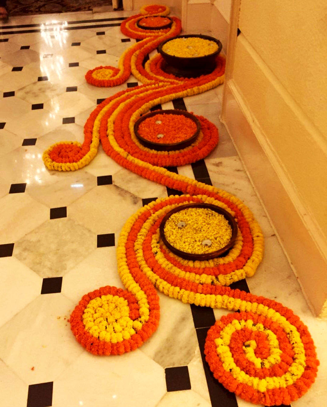 Border Rangoli Design for Side Wall