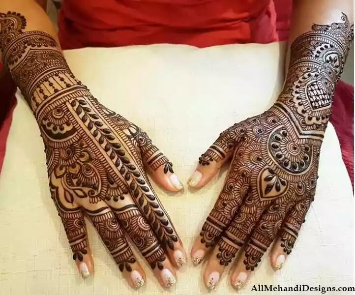 Bridal Heena Designs for Full Hands