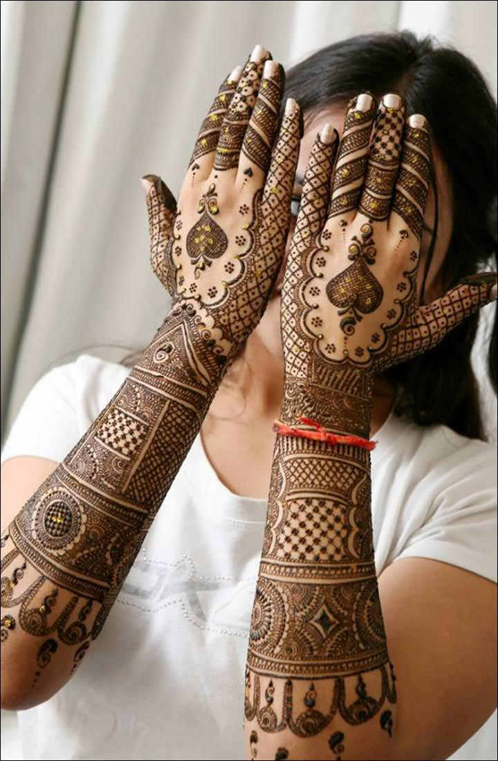 Bridal Heena Designs for Hands