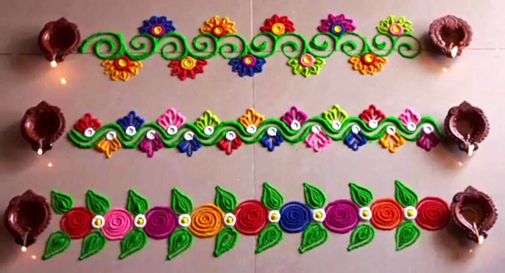 Door Border Rangoli Designs