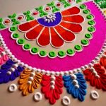 Beautiful Front Door Rangoli Designs