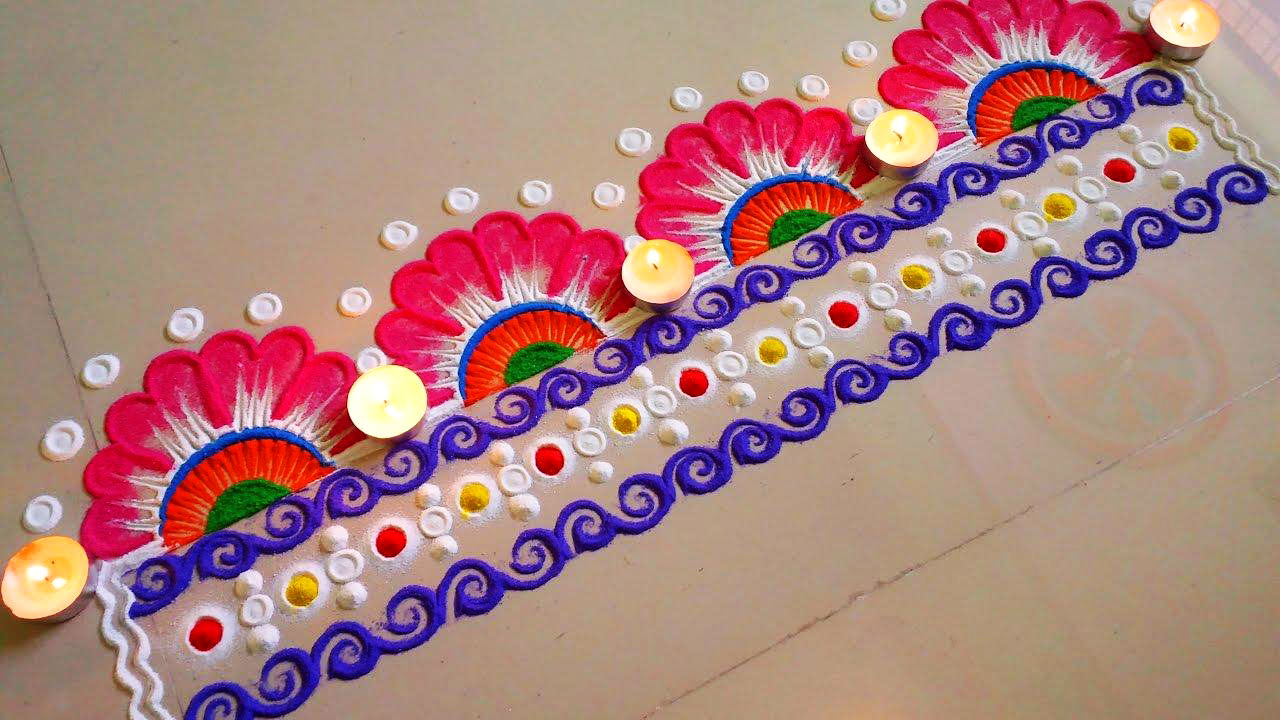 Door Rangoli Designs for Diwali