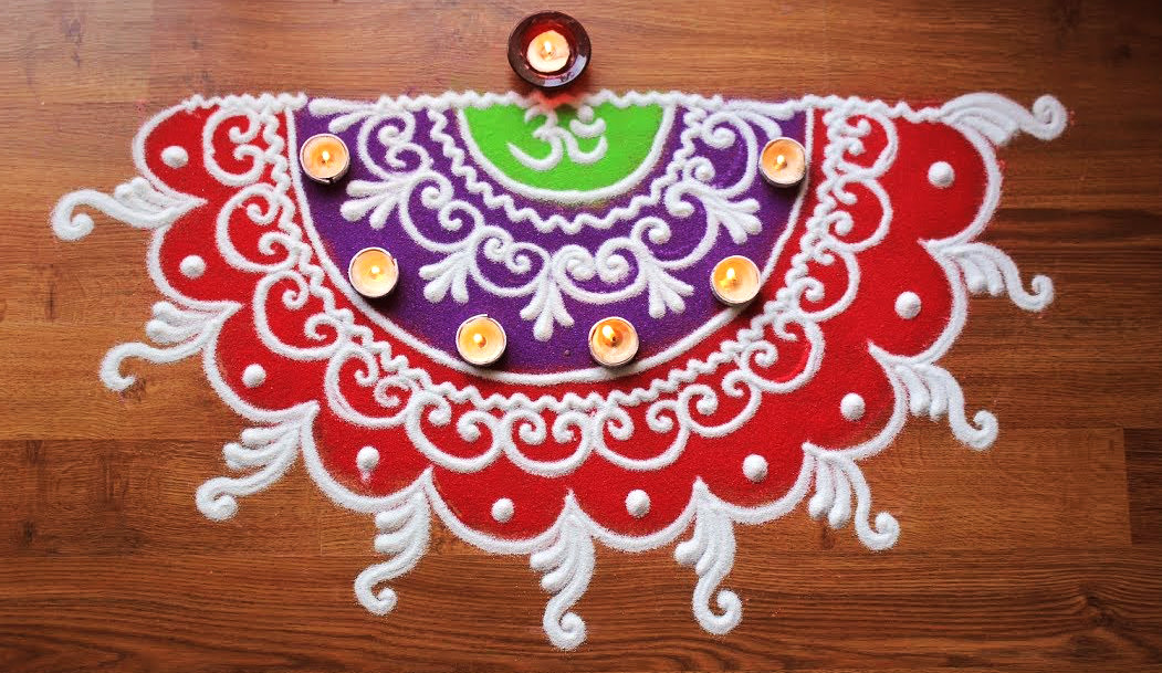 Door Rangoli Single Design
