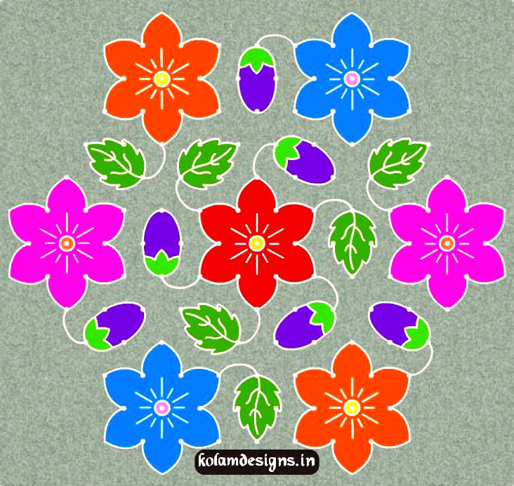 Dot Pattern Rangoli Designs