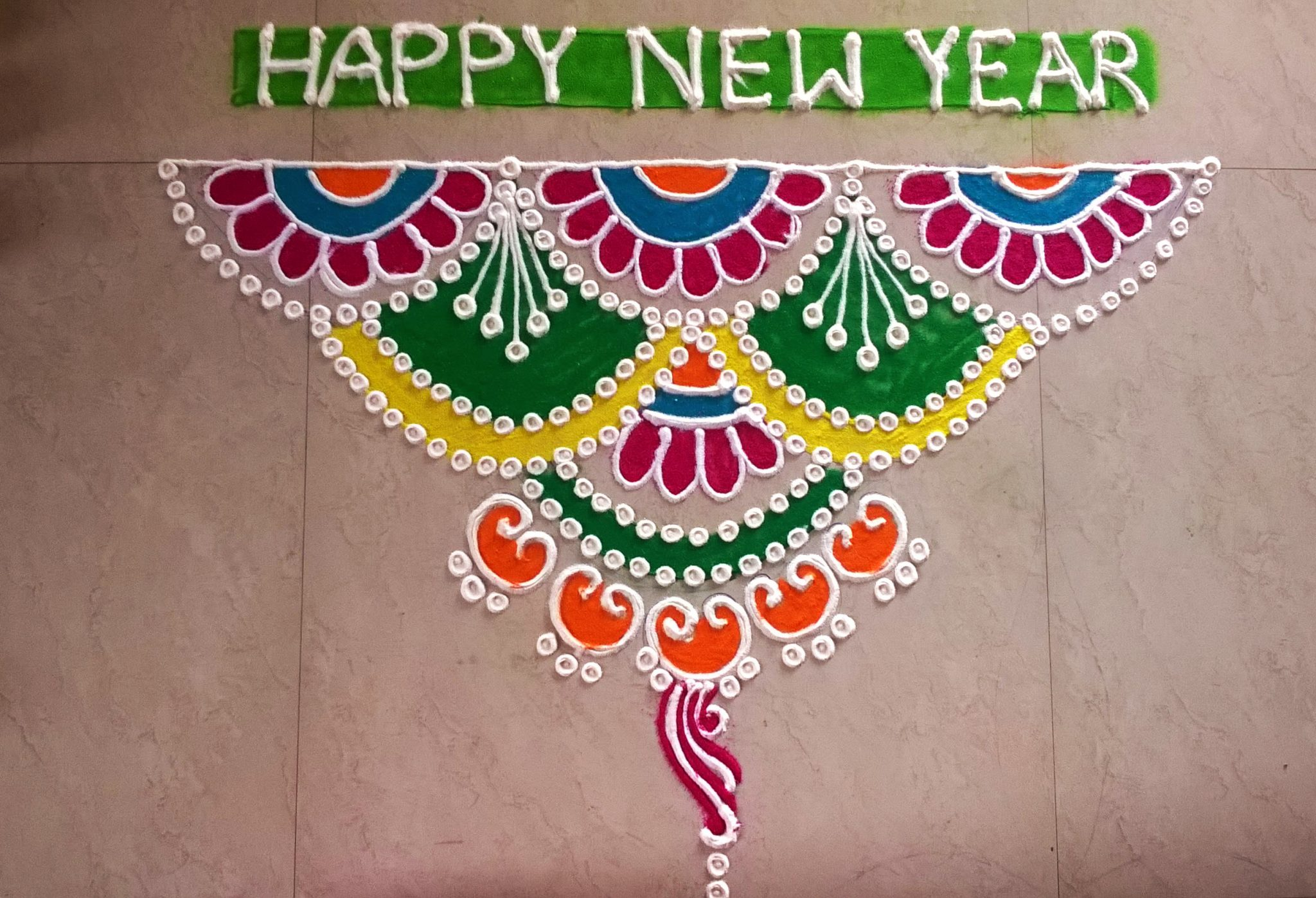 Dot Rangoli Designs Images for Door Border