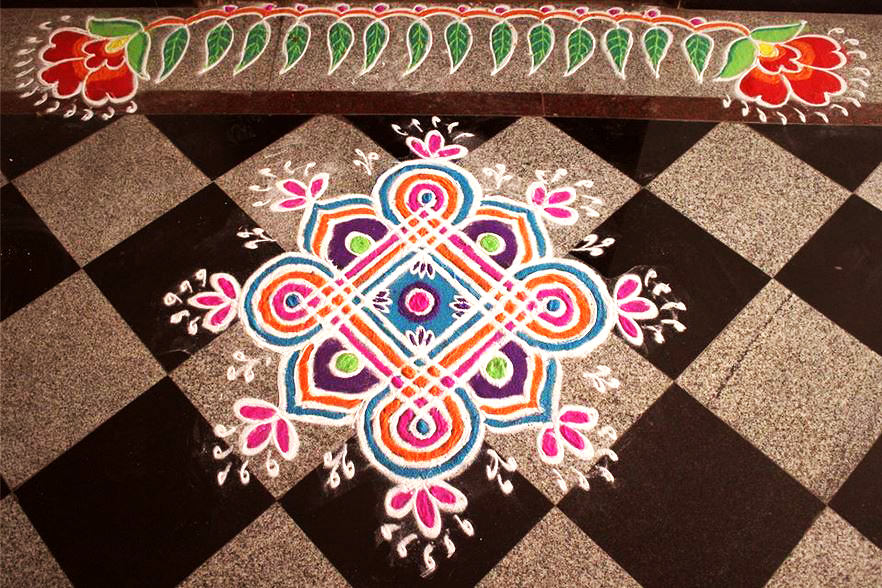 Dot Rangoli Designs for Door and Welcome