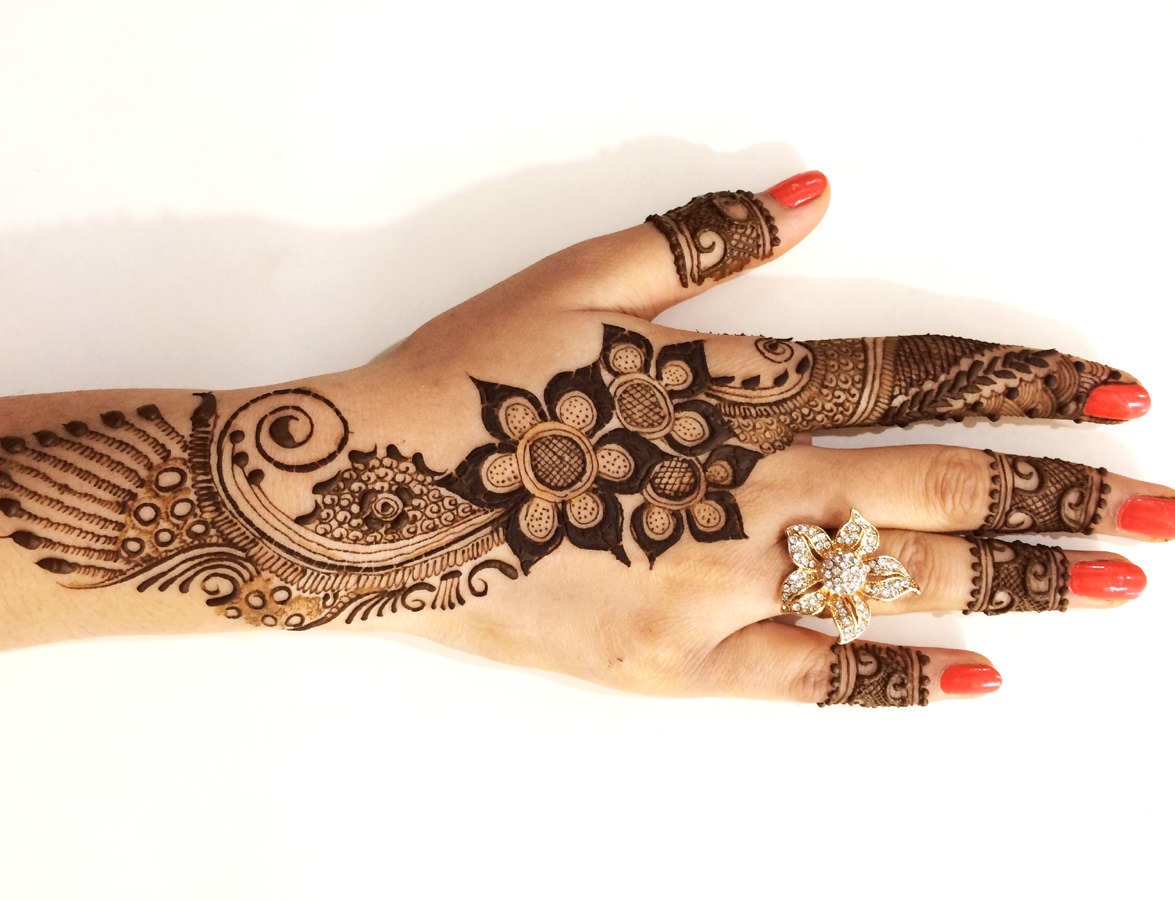 Easy Mehndi Designs for Karva Chauth