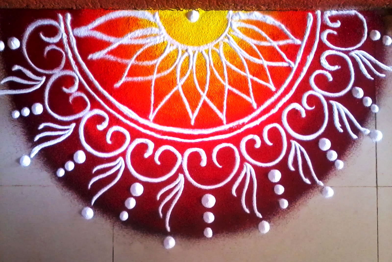 Front Door Rangoli Designs