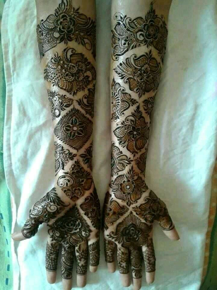 Full Hand Arabic Mehndi Designs for Bridal