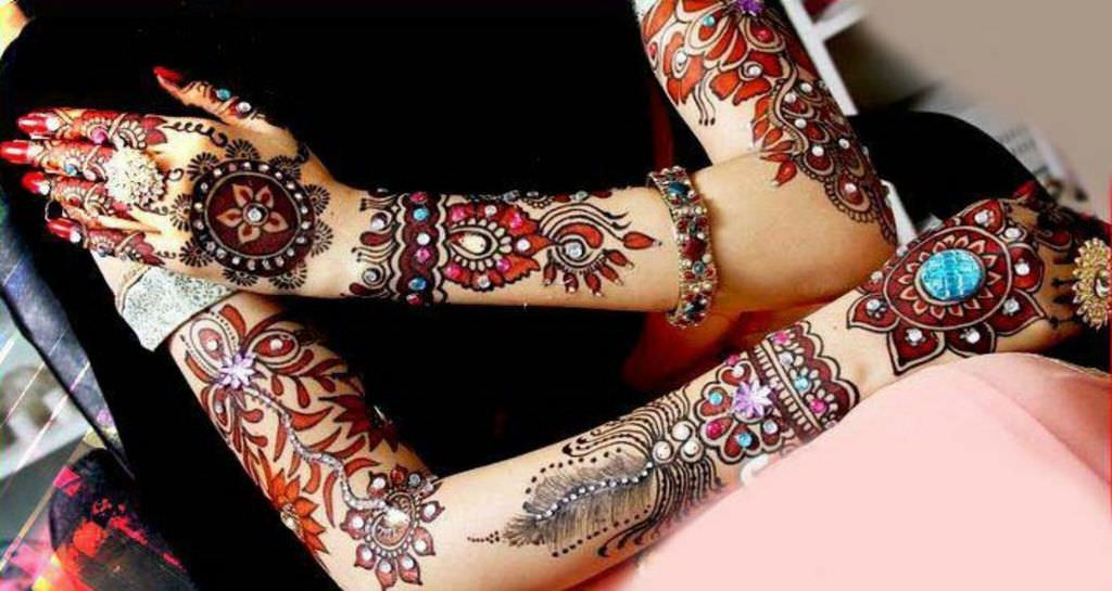 Full Hand Bridal Heena Designs