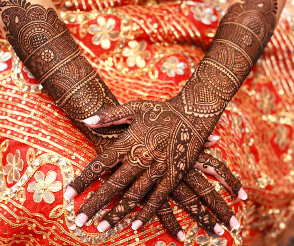 Full Hand Dulhan Mehndi Design Picture