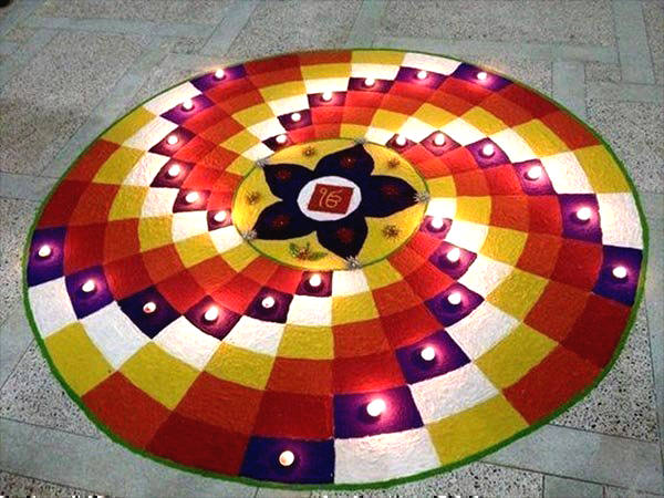 Geometrical Rangoli Designs for Competition