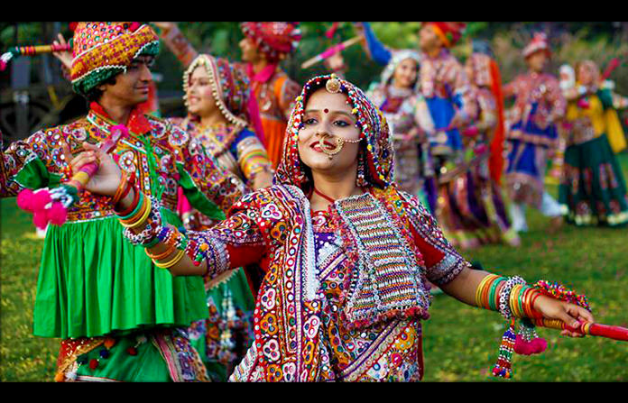 Gujrati Dandiya Girl With Make Up
