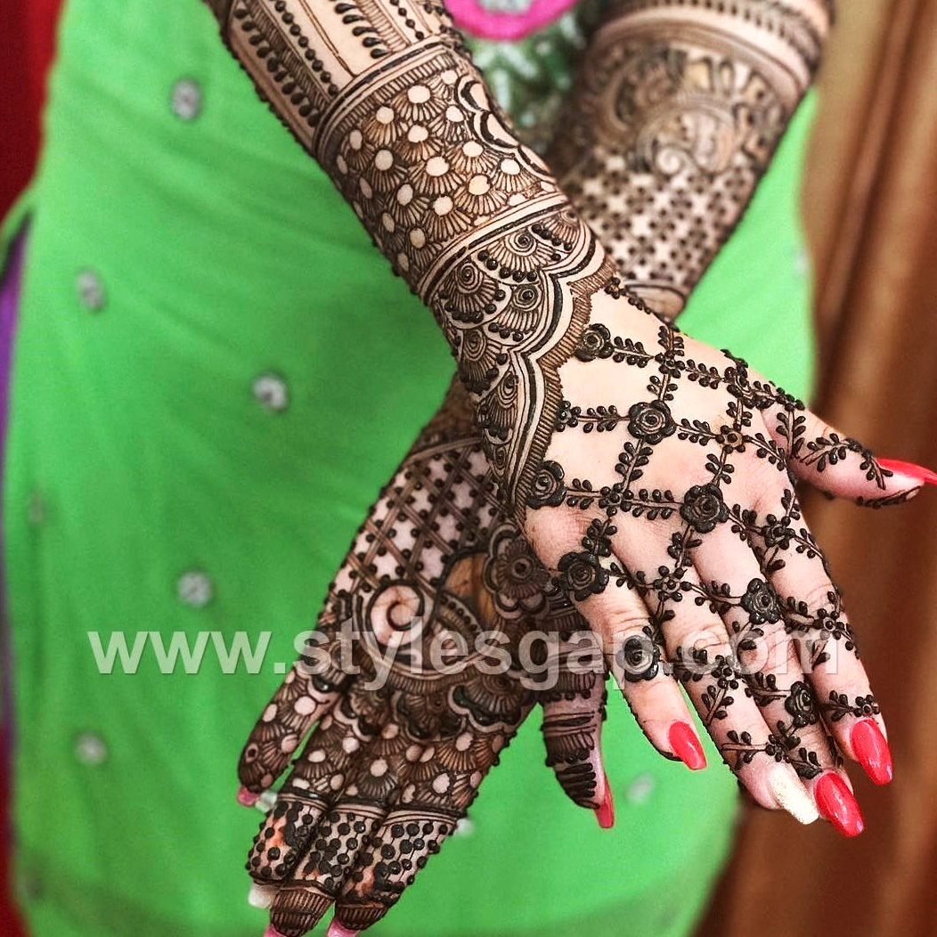 Karwa Chauth Mehandi Designs for Full Hand