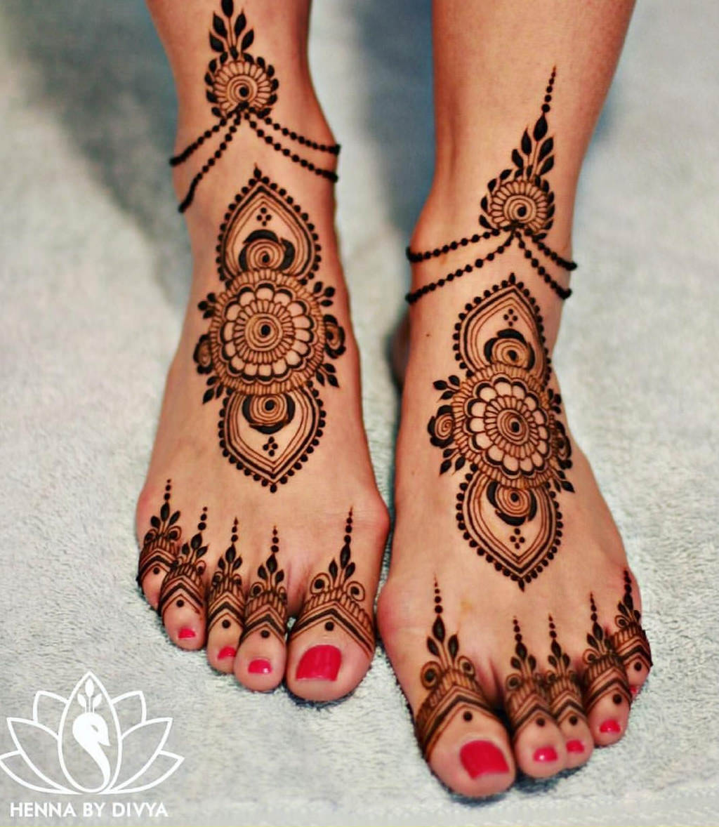 Karwa Chauth Mehndi Designs for Feet