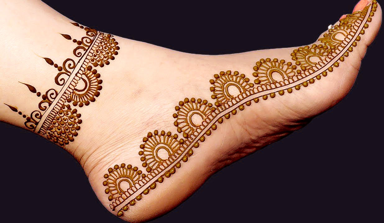 Karwa Chauth Mehndi Designs for Foot