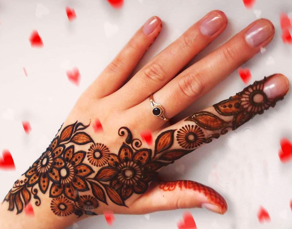 Karwa Chauth Mehndi for Back Hands