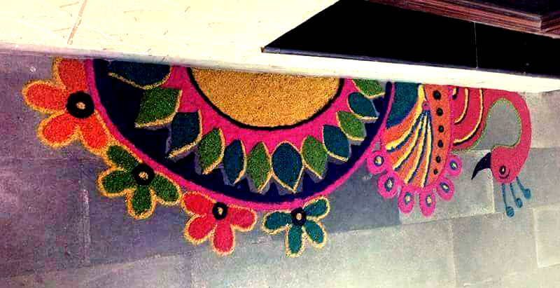Main Door Rangoli Designs