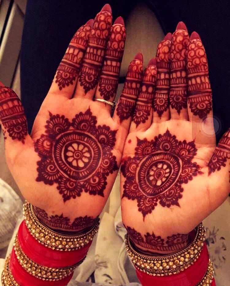 Mehndi Designs for Karva Chauth Hands
