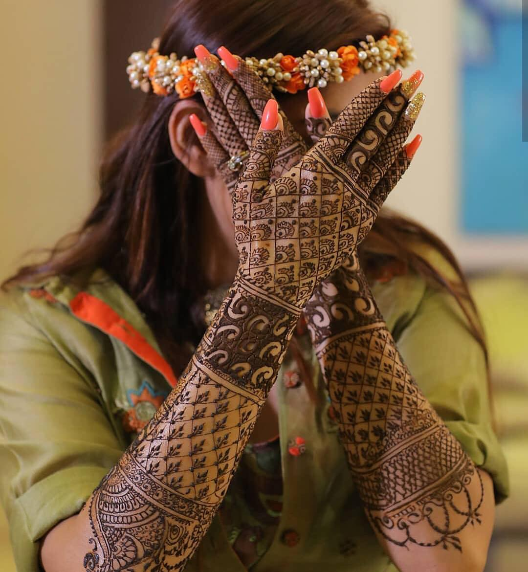 New Bridal Mehendi Designs for Full Hands